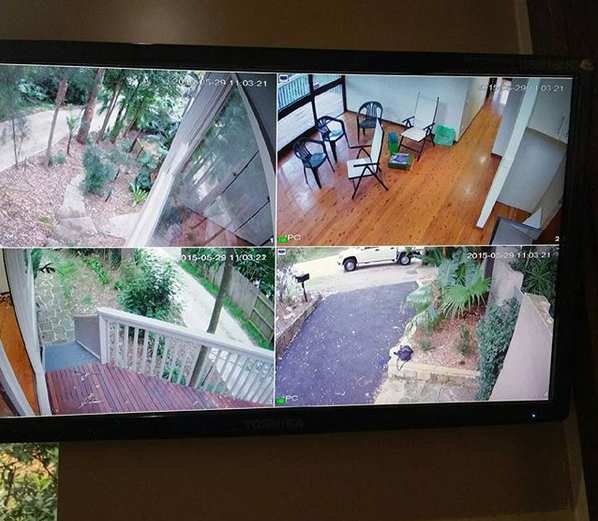 Security camera installed by My Security on a home in Sydney